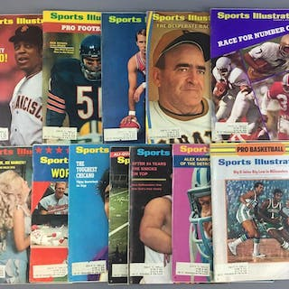 Group of 12 1970s Sports Illustrated Magazines
