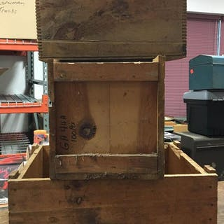 Group of 3 Vintage Wooden Crates