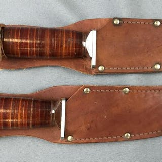 Group of 2 Craftsman Bowie Knives with sheath