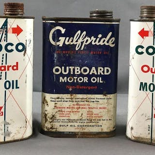 Group of 3 quarts motor oil