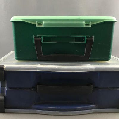 Group of 2 plastic tackle organizers