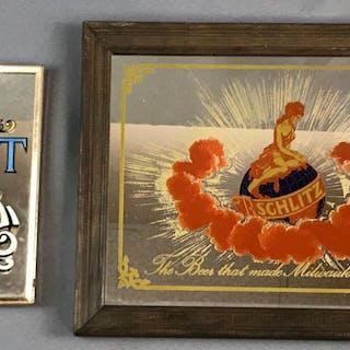 Vintage Schlitz Advertising framed mirrors