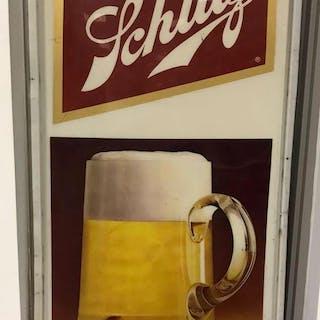 Large Schlitz advertising sign