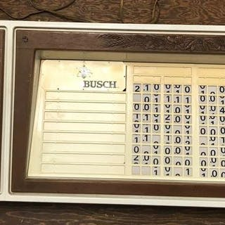 Large vintage Busch electric sign and more