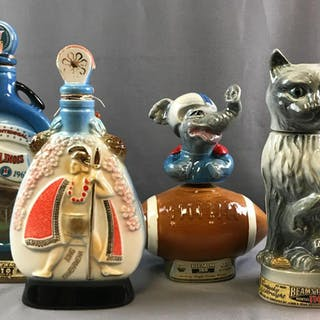Group of 4 Jim Beam decanters