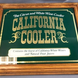 California Cooler advertising mirror