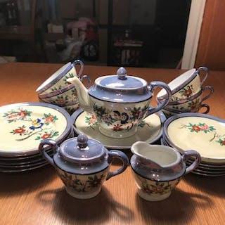 Vintage 1930s porcelain toy tea set, 24 pieces