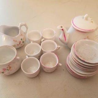 Antique porcelain miniature Tea Set.