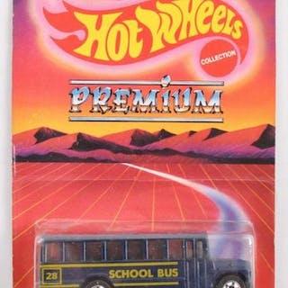Leo Mattel Hot Wheels Premium School Bus Die-Cast Vehicle in Original Packaging