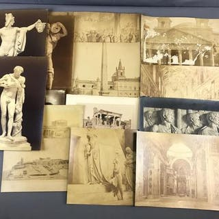 Group of 14 Antique/Vintage etchings and prints
