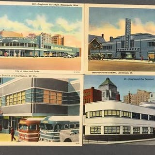 Postcards-Busses and Bus stations