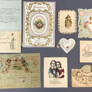 Group of Antique Love Letters and Cards