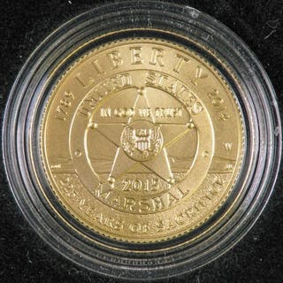 2015 United States Marshals Service 225th Anniversary Commemorative Gold Coin.