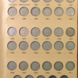 Group of (33) Liberty Head Nickels in Dansco Album 7111.