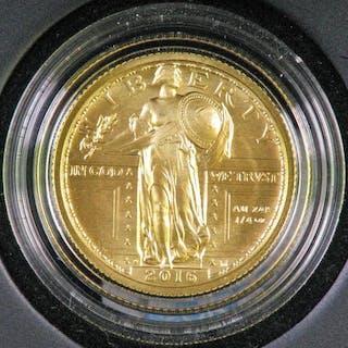 2016 W Standing Liberty Quarter Centennial Gold Coin.