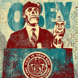 THEY LIVE MONDO (BLUE) - OBEY (SHEPARD FAIREY)