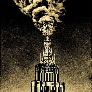 OIL & GAS BUILDING - OBEY (SHEPARD FAIREY)