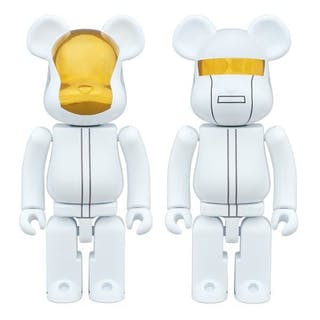 WHITE SUITS DAFT PUNK 2 PACK 400% - BE@RBRICK