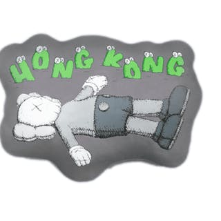 HOLIDAY HONG KONG CUSHION GREY - KAWS