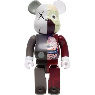 KAWS DISSECTED BROWN 400% - BE@RBRICK