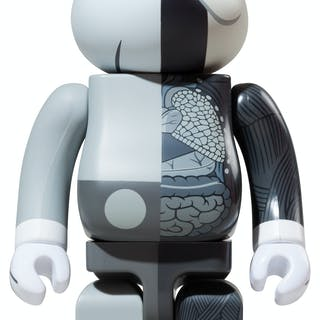 KAWS DISSECTED GRAY 400% - BE@RBRICK