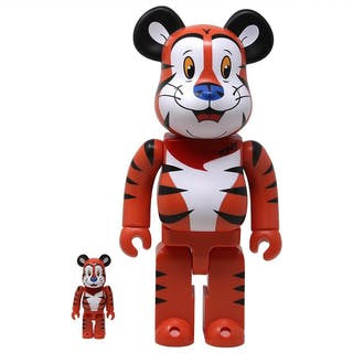 TONY THE TIGER 100% + 400% SET (ORANGE) - BE@RBRICK