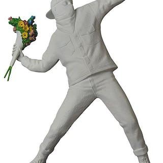 FLOWER BOMBER GESSO WHITE - BANKSY