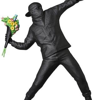 FLOWER BOMBER GESSO BLACK - BANKSY