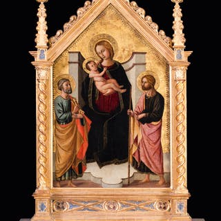 The Madonna and child with St. Peter and John the Baptist