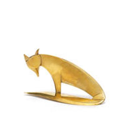 A Stylised Figure of a Fox by Werkstätten Hagenauer  stamped 'WHW'