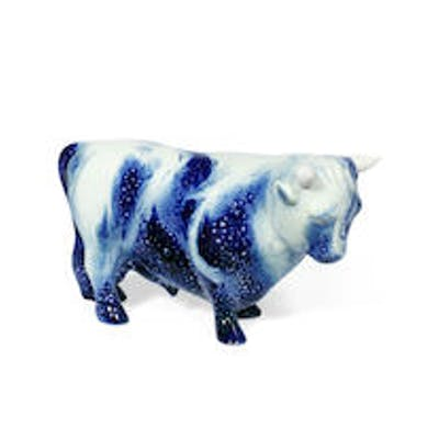 A Rare Prototype Model of a Bull by Royal Doulton lion and crown mark