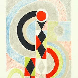 Sonia Delaunay (French, 1885-1979) Totem Lithograph printed in colours