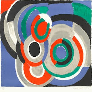 Sonia Delaunay (French, 1885-1979) Hommage à Stravinsky Lithograph