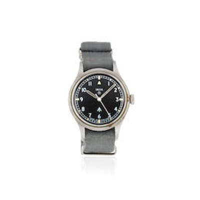 Smiths. A military stainless steel manual wind wristwatch issued to