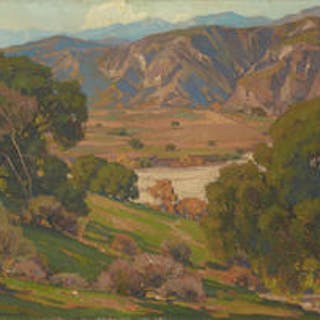 William Wendt (1865-1946) California Landscape 28 x 36in (Painted in 1920.)