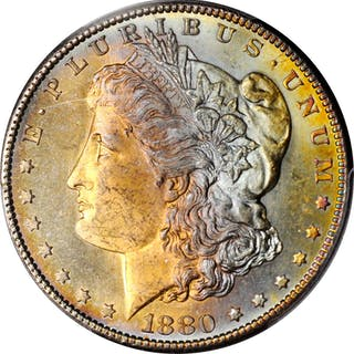 1880-S Morgan Silver Dollar. MS-64 (PCGS). CAC.