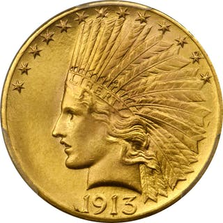 1913 Indian Eagle. MS-65+ (PCGS).