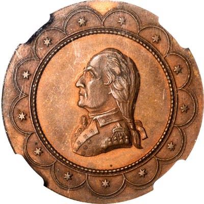 """1777"" (ca. 1862) George Hampden Lovett's Headquarters Series Medal"