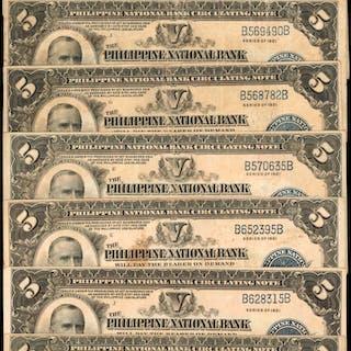PHILIPPINES. Philippine National Bank. 5 Pesos, 1921. P-53. Very Fine.