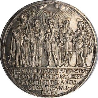 AUSTRIA. Salzburg. 1/2 Taler, 1682. Max Gandolph von Kuenburg. PCGS