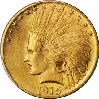 1915 Indian Eagle. MS-63 (PCGS).