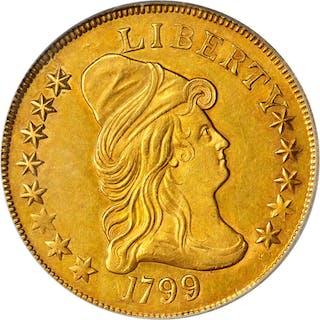 1799 Capped Bust Right Eagle. BD-5, Taraszka-17. Rarity-6. Small Obverse