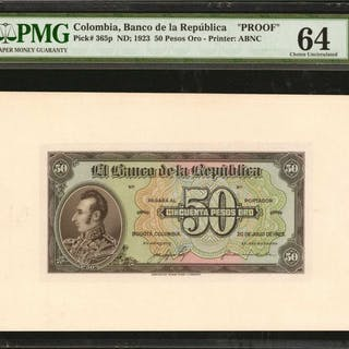 COLOMBIA. Banco de la Republica. 50 Pesos Oro, July 20, 1923. P-365p.