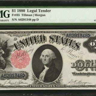 Fr. 35. 1880 $1  Legal Tender Note. PMG Choice Extremely Fine 45.