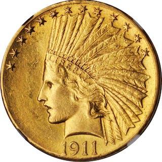 1911-D Indian Eagle. AU-55 (NGC).
