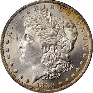 1883-O Morgan Silver Dollar. MS-65 (PCGS).