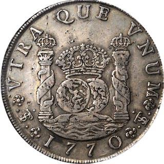 BOLIVIA. 8 Reales, 1770-PTS JR. Potosi Mint. Charles III (1759-88).