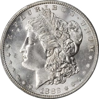 1882-S Morgan Silver Dollar. MS-66 (PCGS).