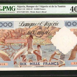 ALGERIA. Banque de l'Algerie & de la Tunisie. 10,000 Francs, 1955-57