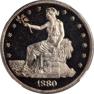 1880 Trade Dollar. Proof-66 Ultra Cameo (NGC).